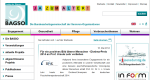 Bundesarbeitsgemeinschaft der Seniorenorganisationen (BAGSO): Redaktion der Website-Texte