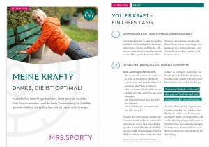 Flyer aus der neuen Gesundheitsreihe von Mrs.Sporty