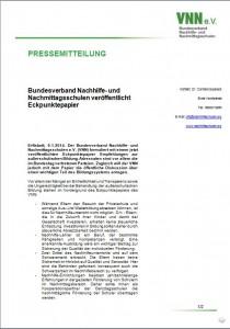 Pressemeldung des Bundesverbands Nachhilfe- und Nachmittagsschulen: Redaktion
