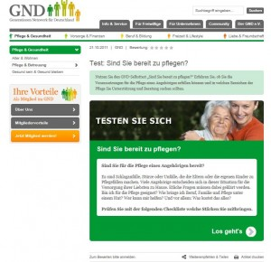 Ratgeber zur Pflege für das Generationennetzwerk für Deutschland